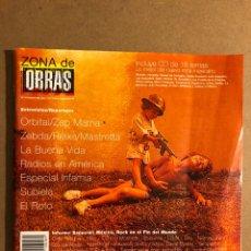 Revistas de música: ZONA DE OBRAS N° 16 (1999). LA BUENA VIDA, ANTON REIXA, MASTRETTA, ZEBDA, ORBITAL, EL ROTO,.... Lote 195518597