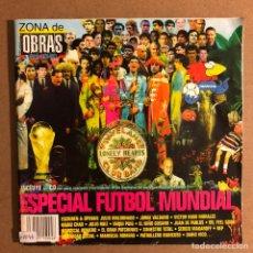 Revistas de música: ZONA DE OBRAS N° 4 (1998). ESPECIAL FÚTBOL MUNDIAL. MALDINI, JORGE VALDANO, MIQUI PUIG, MANU CHAO,... Lote 195520871