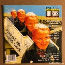 Revistas de música: ZONA DE OBRAS N° 10 (1998). AMPARANOIA, LA CABRA MECÁNICA, TAHÚRES ZURDOS, CUBA: ROCK EN LA ISLA. Lote 195521025