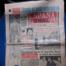 Revistas de música: BEATLES PAUL MCCARTNEY PORTADA PERIODICO ORIGINAL EPOCA ESPAÑA SEMANAL 1965 EN EXCELENTE ESTADO. Lote 195816823