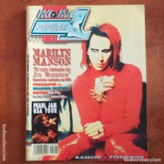 Revistas de música: POPULAR 1 NUM 300 MARILYN MANSON PEARL JAM RANCID FISHBONE BACKYARD BABIES TUBES. Lote 196031446