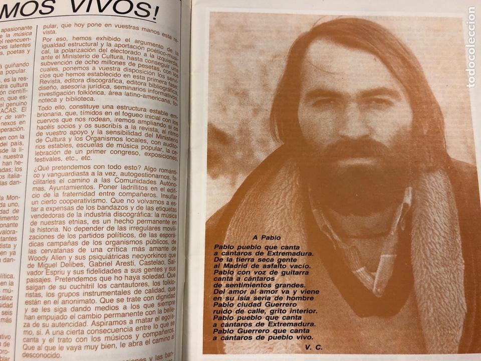 Revistas de música: MÚSICA POPULAR N° 1 (1984). PABLO GUERRERO, AUTE, SISA, GATO PEREZ, OSKORRI, FLAMENCO - Foto 3 - 196278093