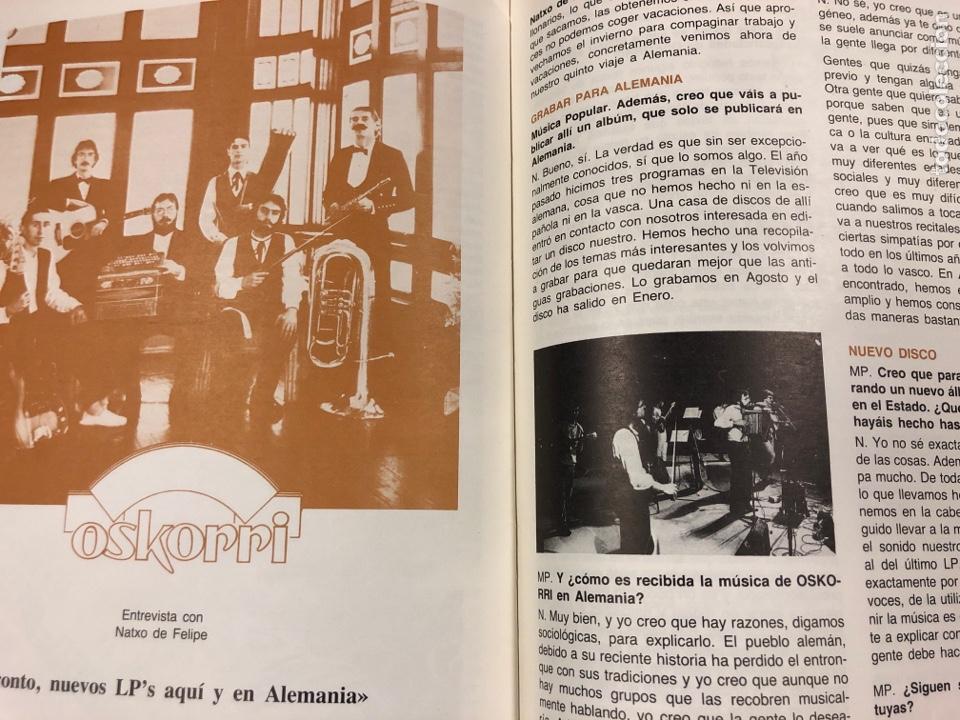 Revistas de música: MÚSICA POPULAR N° 1 (1984). PABLO GUERRERO, AUTE, SISA, GATO PEREZ, OSKORRI, FLAMENCO - Foto 8 - 196278093