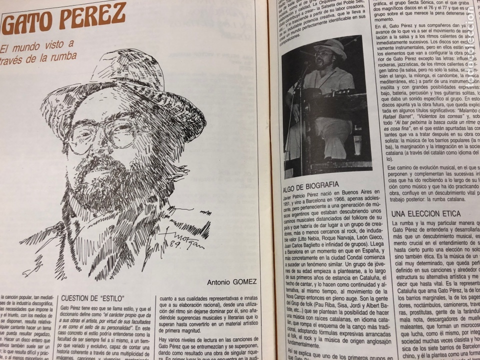 Revistas de música: MÚSICA POPULAR N° 1 (1984). PABLO GUERRERO, AUTE, SISA, GATO PEREZ, OSKORRI, FLAMENCO - Foto 9 - 196278093