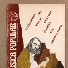 Revistas de música: MÚSICA POPULAR N° 1 (1984). PABLO GUERRERO, AUTE, SISA, GATO PEREZ, OSKORRI, FLAMENCO. Lote 196278093