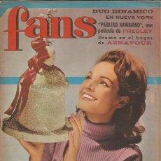 Revistas de música: REVISTA FANS Nº 83 ELVIS CARMEN SEVILLA DUO DINAMICO + POSTER DAVID. Lote 243764065