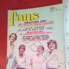 Magazines de musique: TUBAL FANS 119 CON POSTER GIANNI MORANDI REVISTA BEATLES MICK JAGGER. Lote 196763910