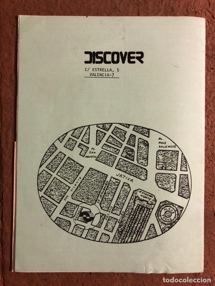 Revistas de música: DISCOVER N° 16 (VALENCIA 1981). HISTÓRICA REVISTA FANZINE PARA COMPRA DE LPs, SINGLES, VÍDEOS,... - Foto 6 - 196945751