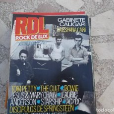 Magazines de musique: ROCK DE LUX 17. GABINETE CALIGARY. TOM PETTY. AC/DC, THE CULT. BOWIE. STARSHIP. LAURIE ANDERSON. Lote 197139978