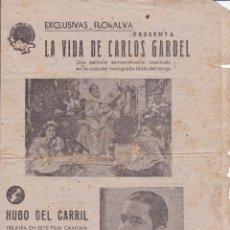 Revistas de música: LA VIDA DE CARLOS GARDEL . Lote 197930326
