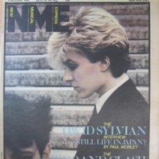 Revistas de música: REVISTA NEW MUSICAL EXPRESS 6 NOVEMBER 1982 DAVID SYLVIAN WHO AND CLASH. Lote 198517922