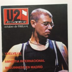 Revistas de música: U2 BANDERA BLANCA Nº 4 - REVISTA - MADRID 1987 - POSTER CENTRAL LARRY MULLEN - FANZINE. Lote 198552657