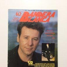 Revistas de música: REVISTA BANDERA BLANCA N.5 - AÑO 1989 - U2 Y SIMPLE MINDS. CON POSTER CENTRAL DE BONO. Lote 198553271