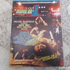 Magazines de musique: POPULAR 1 N. 106. PETER BARDENS. OMD. RICK LEE. BEV BEVAN. SCORPIONS. OBUS. ZOMBIES. ELO. MQM. Lote 198712186