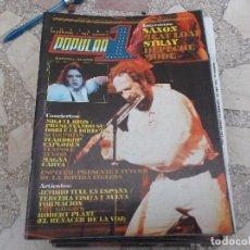 Magazines de musique: POPULAR 1 N. 108. SAXON. MIGUEL RIOS. SCORPIONS. DEPECHE MODE. STRAY. JETHRO TULL. ROBERT PLANT. MEA. Lote 198900163