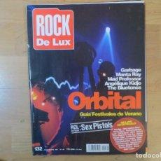 Revistas de música: ROCK DE LUX:N.132-ORBITAL-SEX PISTOLS-MANTA RAY-MAD PROFESSOR. Lote 200166076