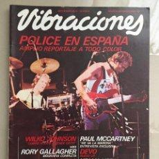 Riviste di musica: VIBRACIONES - NUMERO 72 - THE POLICE - PAUL MCCARTNEY - RORY GALLAGHER - KING CRIMSON - 1980. Lote 200291766