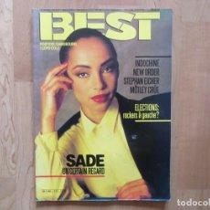 Revistas de música: BEST:N.212-SADE-NEW ORDER-MOTLEY CRUE-INDOCHINE-DOKKEN. Lote 201551891