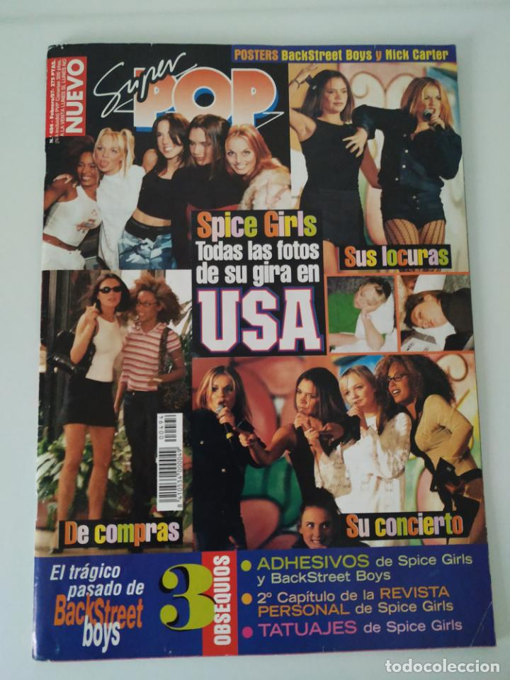 Revistas de música: Especial Spice Girls. Super Pop 494, 495, 496, 497, 498, fotos, álbum, pegatinas, póster, carpeta.97 - Foto 2 - 201685358