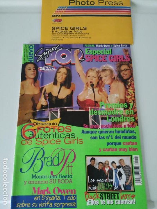 Revistas de música: Especial Spice Girls. Super Pop 494, 495, 496, 497, 498, fotos, álbum, pegatinas, póster, carpeta.97 - Foto 4 - 201685358