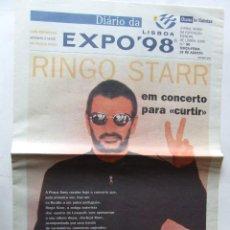 Revistas de música: BEATLES RINGO STARR DIARIO DA EXPO 98 1998 EXPOSICION UNIVERSAL DE LISBOA PORTUGAL. Lote 201759426