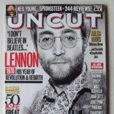 Revistas de música: UNCUT 159 BEATLES JOHN LENNON NEIL YOUNG MILES DAVIS MIKE OLDFIELD COURTNEY LOVE DEVO BOB MARLEY. Lote 201765105