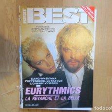 Magazines de musique: BEST:N.220-EURYTHMICS-MADONNA-PRETENDERS-ULTRAVOX-STRANGLERS-METALLICA. Lote 202259953