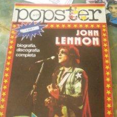 Revistas de música: POPSTER Nº 17 PRIMERA EDICION JOHN LENNON SEÑALES DE USO,ESQUINAS CON ORIFICIOS DE CHINCHETAS. Lote 202780656