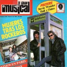 Revistas de música: EL GRAN MUSICAL 228 FEBRERO 1983 (CON POSTER) STEVIE WONDER-MARISOL-ULTRAVOX-PALOMA SAN BASILIO. Lote 203632460
