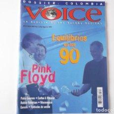 Revistas de música: REVISTA VOICE Nº 6 (PINK FLOYD, PABLO GUERRERO, CARLTON & RITENOUR, ROBBIE ROBERTSON). Lote 203830452