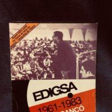 Revistas de música: CATALOGO EDIGSA 1961-1983 NOVA CANÇÓ LLETRES TOTES CANÇONS FOTOGRAFIES CATALAN 24X17CMS. Lote 204008706