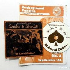 Revistas de música: UNDERGROUND FANZINE - BLACK MUSIC 'N' CULTURE. SHAKE & SHOUT. MEXICO 2009.HIGH NUMBERS.MOD'S. Lote 204055247