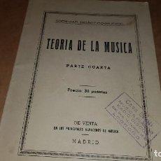 Revistas de música: LIBRO AÑO 1958. TEORÍA DE LA MÚSICA. Lote 204509351