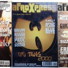 Revistas de música: LOTE 3 REVISTAS AFRO X PRESS - AÑO 2000 NUMEROS 2,3,4 DMX-WU TANG-D´ANGELO-Q TIP -BLUE NOTE -SIZZLA. Lote 204105438