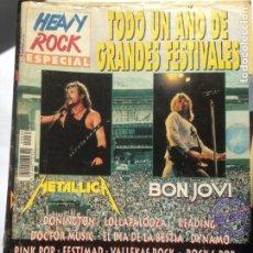 Revistas de música: HEAVY ROCK ESPECIAL NUMERO 33 SEPTIEMBRE 1996 GRANDES FESTIVALES METALLICA BON JOVI. Lote 205075877