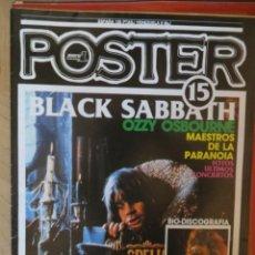 Magazines de musique: POSTER: N.15 !!!!!! -ESPECIAL: BLACK SABBATH (SPANISH MAGAZINE). Lote 205158612
