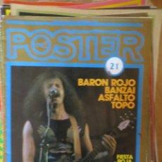 Magazines de musique: POSTER: N.21- BARON ROJO / BANZAI / ASFALTO / TOPO. Lote 205159360