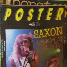 Magazines de musique: POSTER: N.32 !!!!!! -ESPECIAL: SAXON (SPANISH MAGAZINE). Lote 205161250