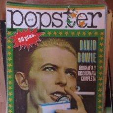 Riviste di musica: POPSTER: N.8 -ESPECIAL: DAVID BOWIE !!!!!. Lote 282233453