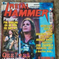 Revistas de música: METAL HAMMER Nº 129 - AGOSTO 98 . OZZFEST . BLACK SABBATH . METALLICA . PANTERA . ANTHRAX. Lote 205256536