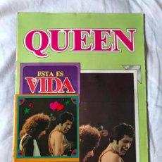 Revistas de música: QUEEN, ESTA ES SU VIDA REVISTA ORIGINAL, CONSERVA LOS CROMOS Y EL POSTER INTERIOR 1981. Lote 205320998
