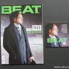 Revistas de música: BEAT 41 – STEVE RACHMAD – BRIAN ENO – LCD SOUNDSYSTEM – DJ VADIM + CD. Lote 205328817