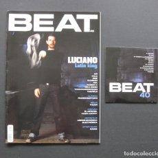 Revistas de música: BEAT 40 – LUCIANO – AIR – POLE – FRANCO BATTIATO – TOUCH – LIBROS DE MÚSICA ELECTRÓNICA + CD. Lote 205329011