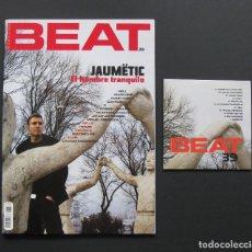 Revistas de música: BEAT 39 – JAUMËTIC – AMON TOBIN – DJ KRUSH – TRAUM + CD. Lote 205329173