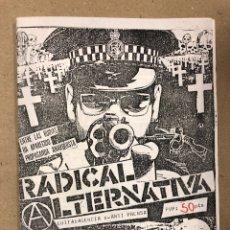Revistas de música: RADICAL ALTERNATIVA (ZARAGOZA, 1983). HISTÓRICO FANZINE ORIGINAL; PUNKZINE: DISRUPTERS, WRETCHED,. Lote 205394108