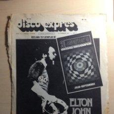 Revistas de música: CLIPPING ELTON JOHN - FERNANDO ARBEX - MUNGO JERRY. Lote 205446373