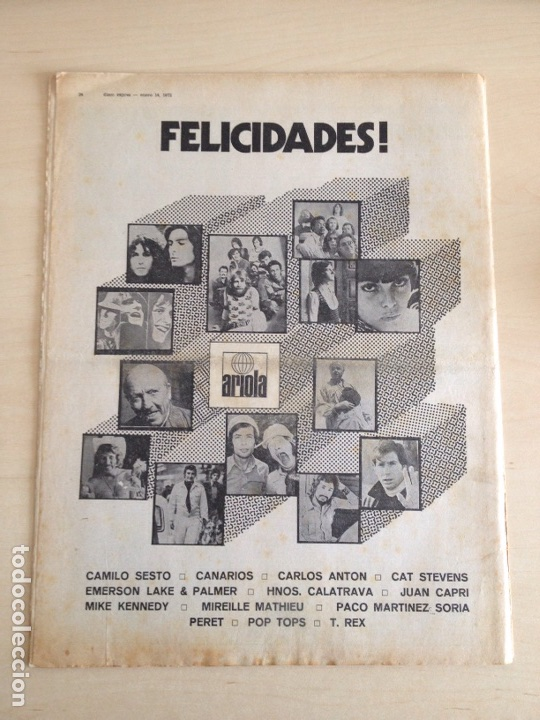 Revistas de música: LED ZEPPELIN - JAMES TAYLOR - POP TOPS - CREAM - J.M. SERRAT - JIMMY CLIFF - Disco Expres num. 155 - Foto 2 - 205569512