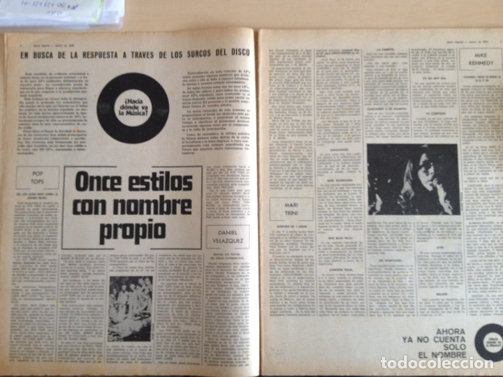 Revistas de música: LED ZEPPELIN - JAMES TAYLOR - POP TOPS - CREAM - J.M. SERRAT - JIMMY CLIFF - Disco Expres num. 155 - Foto 3 - 205569512