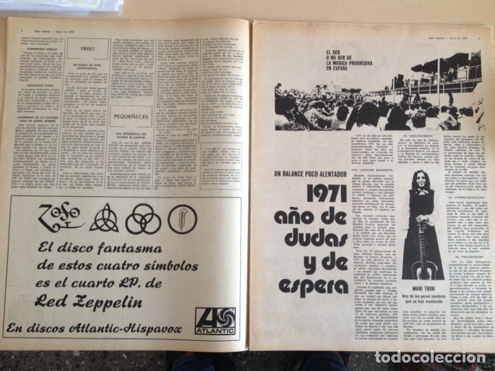 Revistas de música: LED ZEPPELIN - JAMES TAYLOR - POP TOPS - CREAM - J.M. SERRAT - JIMMY CLIFF - Disco Expres num. 155 - Foto 5 - 205569512