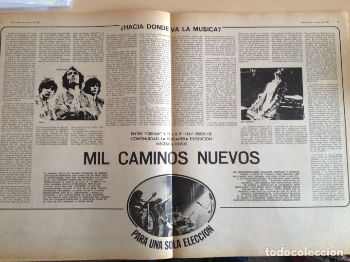 Revistas de música: LED ZEPPELIN - JAMES TAYLOR - POP TOPS - CREAM - J.M. SERRAT - JIMMY CLIFF - Disco Expres num. 155 - Foto 9 - 205569512